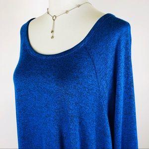 Cha Cha Vente blue plus size tunic top